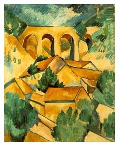Viaduct at L'Estaque by Georges Braque